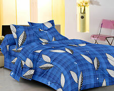 Homefabs 100% Cotton Double Bed Sheet with 2 Pillow Covers (DBS 099)