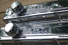 NEW Edelbrock CHROME Baffled Valve Covers w/ Breathers Big Block Chevy