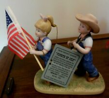 "Homco Home Interiors ""1997"" Denim Days Fourth Of July #1530 ~ 4Th Patriotic"