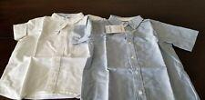 NWT Gymboree White/Blue Button Down Boys ShortSleeve School Uniform Size 5-6