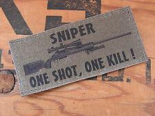 SNAKE PATCH - SNIPER one shot one kill M24 - KAKI BASSE VISIBILITE - FANTAISIE
