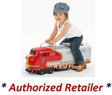 MORGAN CYCLE SANTA FE RAILROAD ENGINE FOOT TO FLOOR RIDE-ON TRAIN STEEL RED NEW