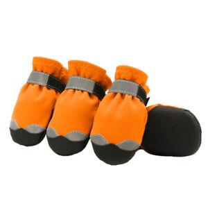 4 Pcs Pet Dog Puppy Rain Snow Wear Boots Shoes Anti-slip Waterproof Shoe for Pet