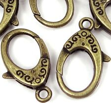 31x18mm X- Large Antique Bronze Pewter Lobster Claw Clasps (5) ~ Lead-Free