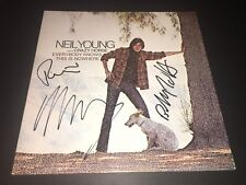 Neil Young & Crazy Horse SIGNED Everybody Knows This Is Nowhere  LP Album PROOF