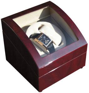 Uhrenbeweger für 2 Uhren Klavierlack BORDEAUX-Ausstellungsstück Neuwertig-ab1 €!