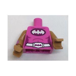 LEGO - Minifig, Torso Female Batman Logo on Oval / Silver Belt w/ Bat Buckle