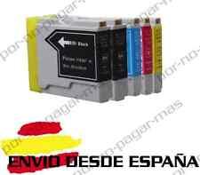 5 CARTUCHOS COMPATIBLES NonOem BROTHER LC970 LC1000 MFC-440CN MFC440CN