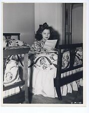 Vintage 1940s READING FAN MAIL Original Candid 8x10 SHIRLEY TEMPLE