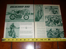 HARLEY DAVIDSON DRAG RACE BIKE - ORIGINAL 1961 ARTICLE