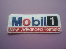 MOTOR RACING OILS FUELS & TYRES SEW ON & IRON ON PATCH:- MOBIL 1 NEW FORMULA