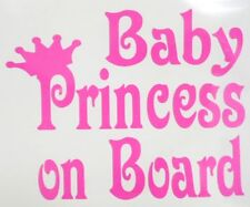 Baby Princess on Board **PINK ONLY**  Car Truck Window Vinyl Decal Sticker