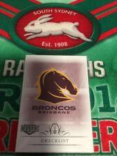 2018 NRL Elite 9 Card Mini Base Team Set Brisbane Broncos