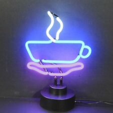 New neon Steaming Coffee Expresso Cup Restaurant cafe sign sculpture lamp light