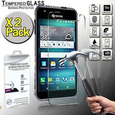 2 Pack Real Tempered Glass Screen Protector Cover For Kyocera Hydro Air