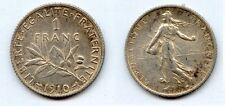 Gertbrolen 1 Franc  Argent Semeuse 1910*  TTB à Superbe