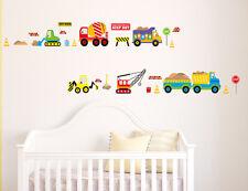 Cartoon truck world Wall Decor Vinyl Decal Stickers Removable Nursery Kids Baby