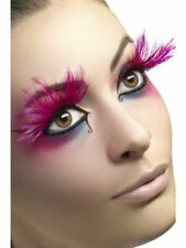 Eyelashes Pink Feather Plumes Adult Womens Smiffys Fancy Dress Costume Accessory