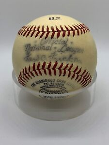 1947-48 Spalding President Ford Frick Official National League Baseball Ball