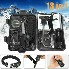13 in 1 SOS Kit Outdoor Emergency Equipment Box For Camping Hiking Survival Gear