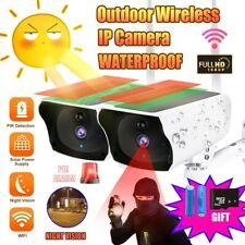 Outdoor Wireless IP Solar Power Camera Rechargeable Battery Security Waterproof