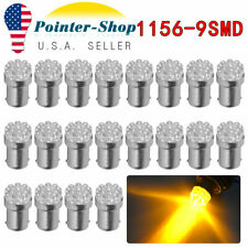 20x 1156 1141 Amber/Yellow G18 Turn Signal Parking LED Light Bulbs 12V BA15S