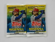 2 Packs 2020 Topps Update Series Baseball Hot Pack Auto Autograph Card Sealed
