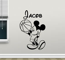 Personalized Mickey Mouse Wall Decal Custom Name Vinyl Sticker Kids Decor 112crt