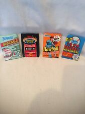 B18) FOUR DIFFERENT VINTAGE ASSORTED BASEBALL WAX PACKS SEALED NEVER OPENED