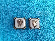 Ancienne boucles d'oreilles clips décor Dragon 20 mm x 20 mm