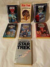 Lot of 7 STAR TREK Paperback Books