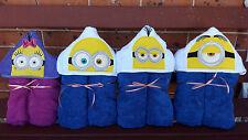 Hooded Towels Minions Kids Beach Bath Cartoon PERSONALISED