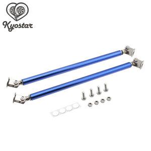 "6""-8"" Blue 15CM Adjustable Front Bumper Lip Splitter Rod Strut Tie Bar Support"