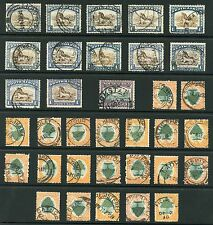 SOUTH AFRICA POSTMARKS 34 stamps ROTO PICTORIAL ISSUES COLLECTORS ACCUMULATION