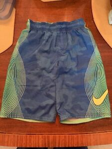 Nike Boys Swim Trunks with Pockets Size Medium (10-12) Bright Pink/Blue