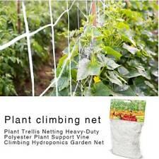 15/30FT Garden Nylon Trellis Netting Plant For Support Growing Mesh Net White