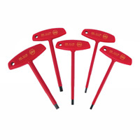 Wiha 33478 5 Piece Insulated T-Handle Hex Metric Set