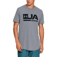 Under Armour Herren UA Sportstyle Drop Hem Short Sleeve T-shirt Grau 1329617 036