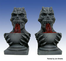 Scotia Grendel 25mm Miniature Skull Fountains works with Dwarven Forge D&D