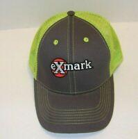 Exmark Embroidered Logo Neon Green Mesh Back Trucker Cap Hat W/ Adjustable Strap
