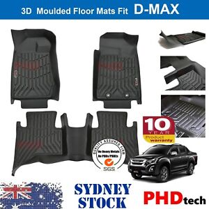 Prime 3D TPE All Weather Floor Mats Liner ISUZU D-MAX DualCab DMAX 2012~2020 Jul