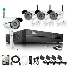 Funlux® 720P IP Network Outdoor Wireless Camera Home Security System 4CH NVR 1T