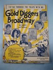 Tip Toe Through The Tulips With Me Sheet Music Vintage 1929 Joe Burke Thru (O)