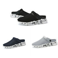 Men Slip On Garden Clogs Slippers Water Shoes Sandals Breathable Sneakers Casual