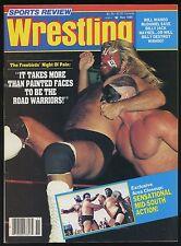 Sports Review Wrestling Magazine - Nov 1985 - Road Warriors vs. The Freebirds