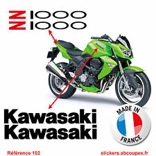 Kit stickers Kawasaki Z1000 - Autocollants Carénage Réservoir Decals Tank - 102