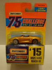 1997 Matchbox 75 Challenge 97 Mustang Mach III #15 1of10,000 1:64 Diecast 17-329