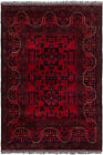 """Vintage Hand-Knotted Carpet 3'3"""" x 4'11"""" Traditional Oriental Wool Area Rug"""