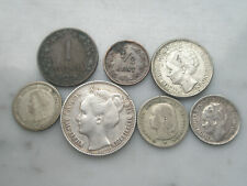 Lot 1/2 1 10 25 cent gulden argent silver Netherlands 1885 1897 1904 1905 1944