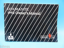 1992 Mitsubishi Diamante Owner's Manual OEM